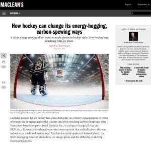 How hockey can alter its energy hogging CO2 spewing ways